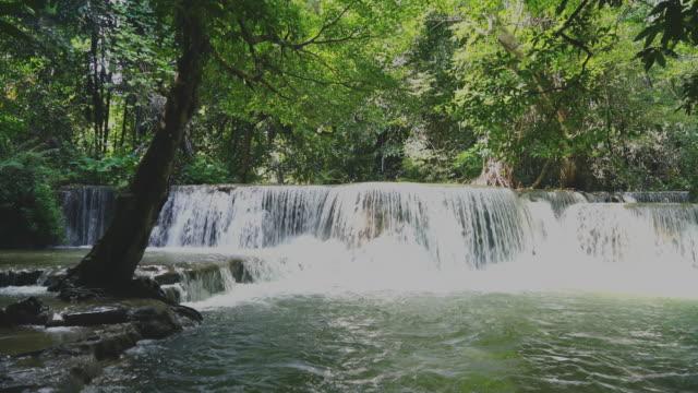 Beautiful Huay Mae Kamin Waterfall at Kanchanaburi in Thailand video