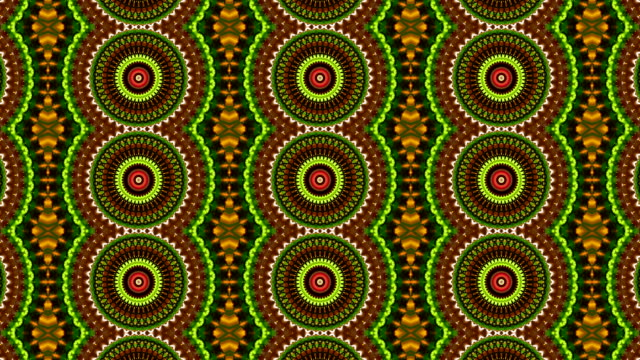 Beautiful kaleidoscopic pattern in bright colors. video