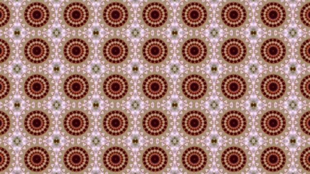 Beautiful kaleidoscopic pattern in pastel colors. video