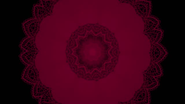 beautiful lace flower pattern with kaleidoscopic effect on black background - art deco architecture stock videos & royalty-free footage