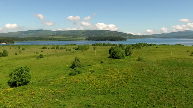Beautiful lake and nature video