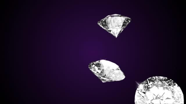 schöne große nahaufnahme kristall klar glänzend runde geschnitten diamant grün bildschirm loop hintergrund. - bling bling stock-videos und b-roll-filmmaterial