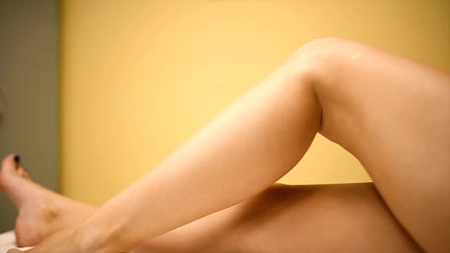 Beautiful legs of the young woman video