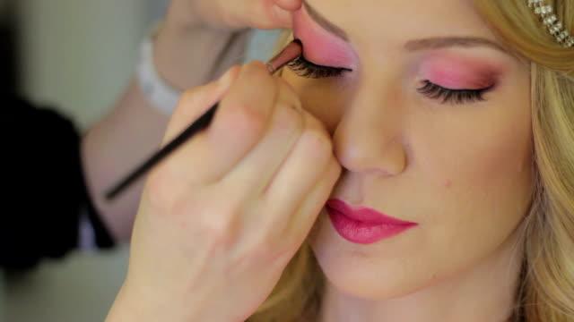 beautiful make up make up studio eyeshadow stock videos & royalty-free footage