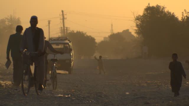 Beautiful morning shoot of people in Mazar-e-Sharif, Afghanistan video