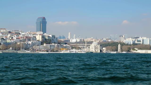 Deniz, modern ve dini Türkiye'de, Istanbul'dan güzel cami Ortaköy manzara video