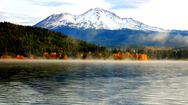 Beautiful mountain and lake Slow zoom out utah stock videos & royalty-free footage