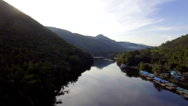 Beautiful  Mountain and River at Dusk. video