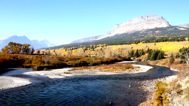 Beautiful Mountain River Glacier National Park. video