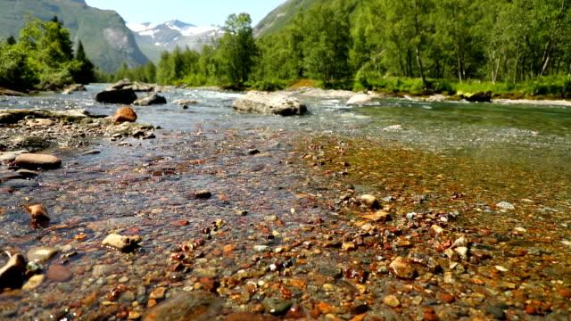 Beautiful mountain river near Trollstigen in Norway