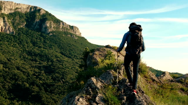 beautiful mountain - trekking video stock e b–roll