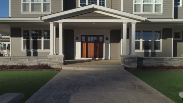beautiful new custom home. - portico video stock e b–roll