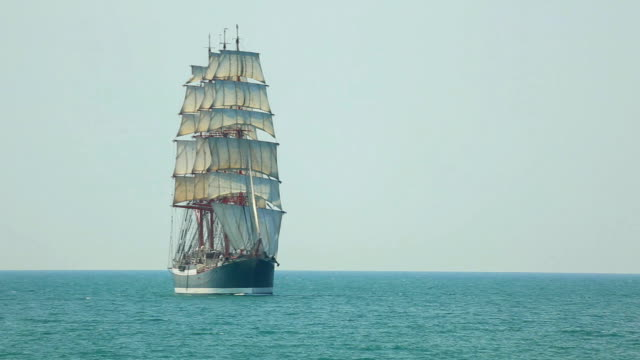 beautiful old barque under full sail video