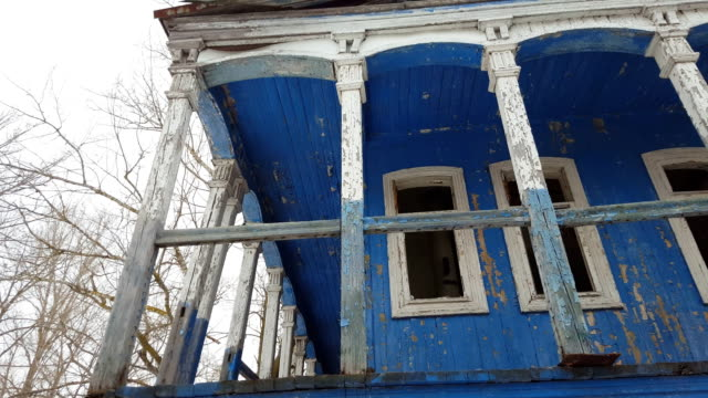 Beautiful old ruined house. video