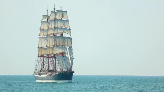 beautiful old sailing barque beautiful old sailing barque mast sailing stock videos & royalty-free footage