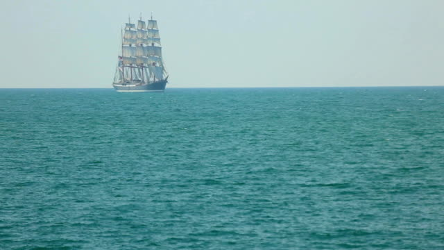 beautiful old ship in full sail video
