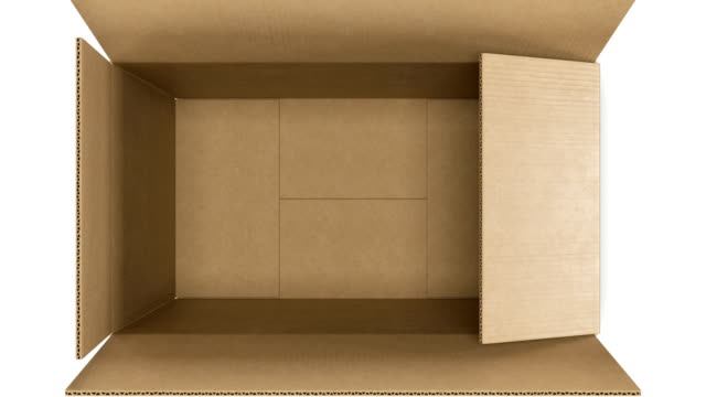 schöne eröffnung karton auf weißem hintergrund mit green screen maske und tracking-punkte. looped 3d animation box öffnen und schließen. urlaub geschenk-konzept. - schachtel stock-videos und b-roll-filmmaterial