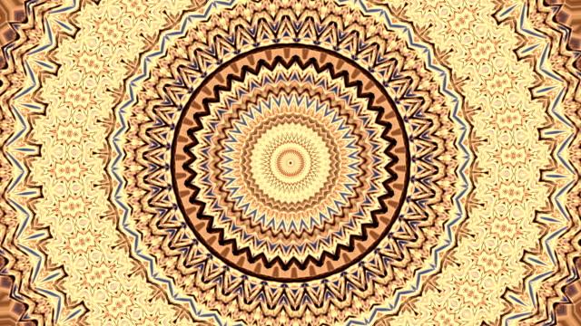 Beautiful ornamental circle kaleidoscopic pattern. video