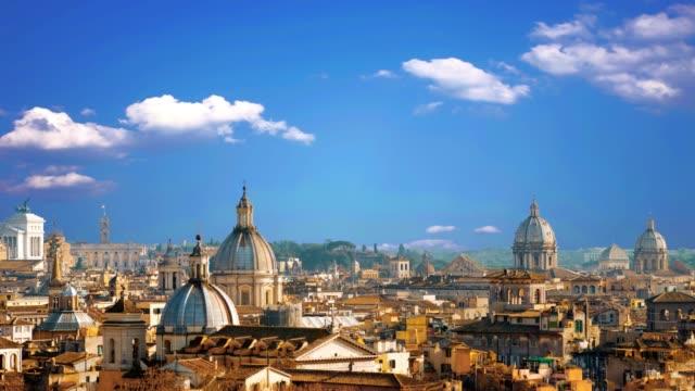vacker utsikt över den vackra staden rom, italien - peter the apostle bildbanksvideor och videomaterial från bakom kulisserna