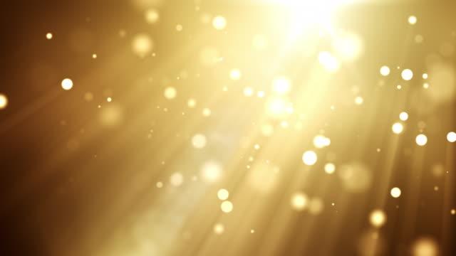 vídeos de stock, filmes e b-roll de partículas de bela 4k - dourado - eventos de gala