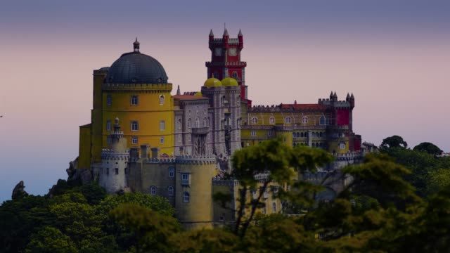 Beautiful Pena Castle in the city of Sintra, Portugal