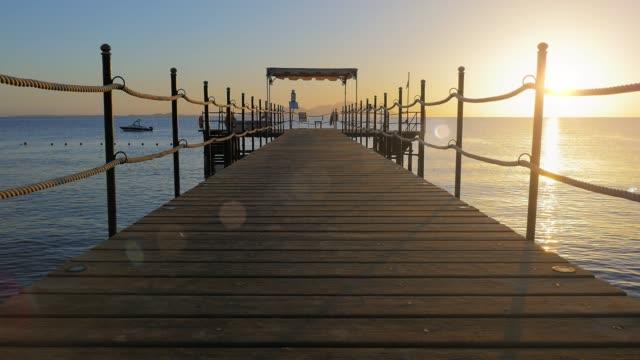 Beautiful pier at sunrise