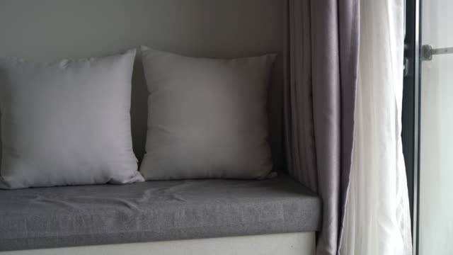 Beautiful pillow on sofa decoration