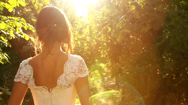 Beautiful Princess Walking in Enchanted Forest video