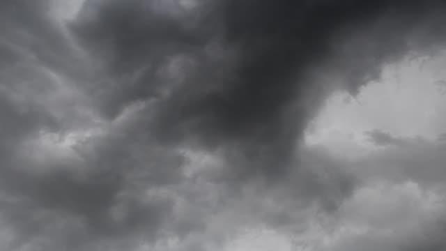 Beautiful rain clouds moving, timelapse
