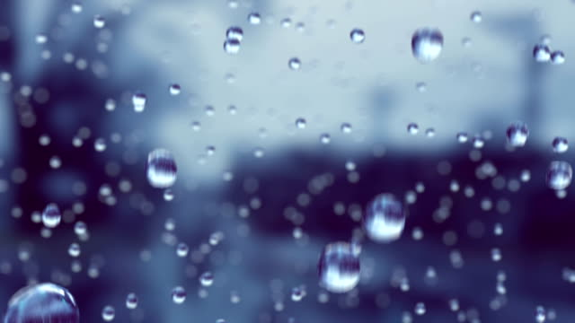 Beautiful Rain Drops in Slow Motion Falling. Loop. HD 1080. video