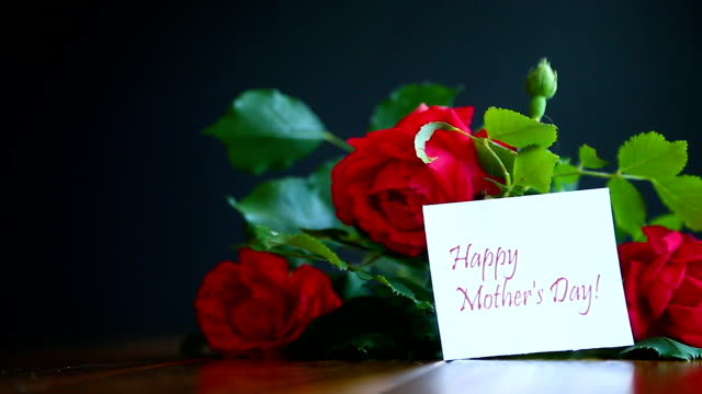 美しい赤いバラの花 - ブーケ点の映像素材/bロール