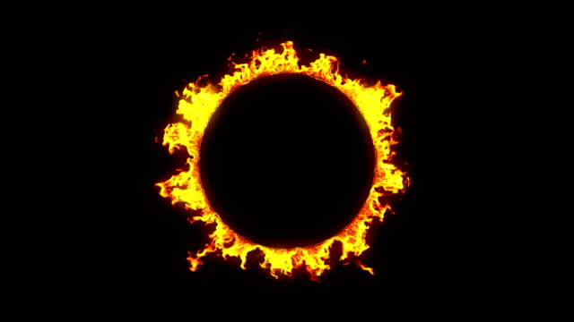 Beautiful Ring of Fire Looped. HD 1080. Alpha channel. video