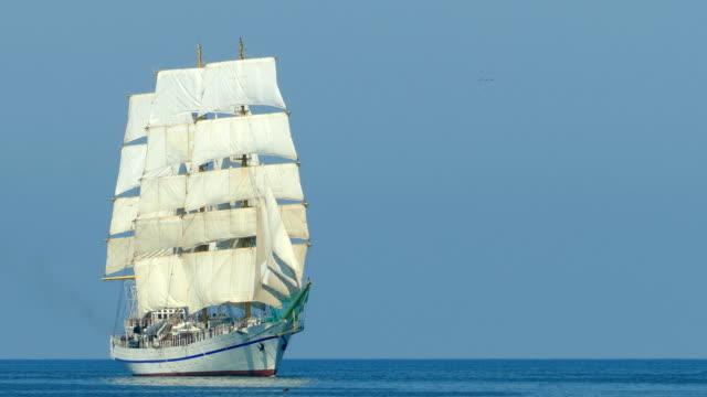 beautiful sailboat in the open sea