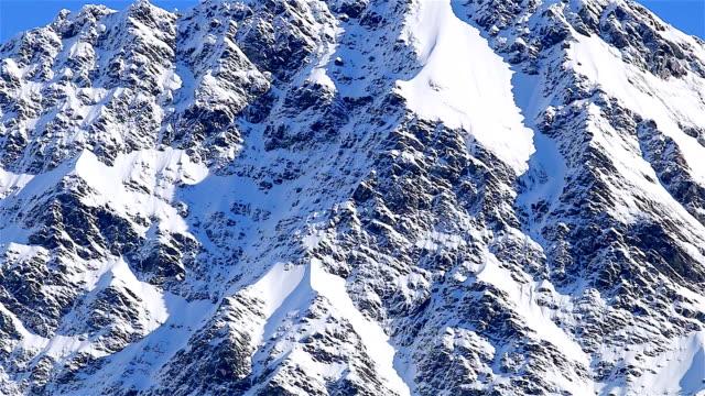 Beautiful scenery of Aoraki Mount Cook valleys New Zealand video