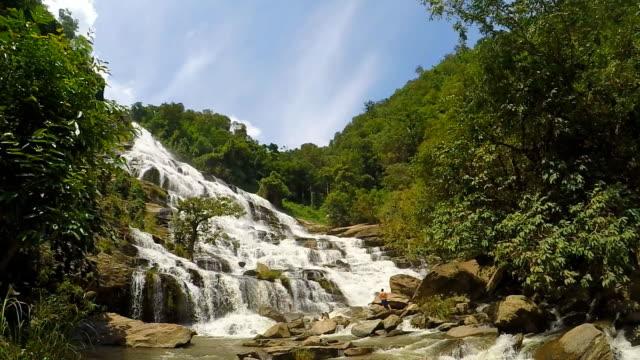 beautiful scenery, waterfall in wild video