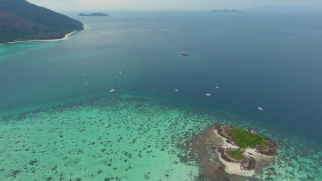 Beautiful Sea, Flying over clean sea surface. video
