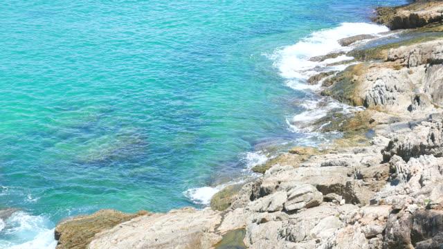 HD Beautiful sea on the beach video