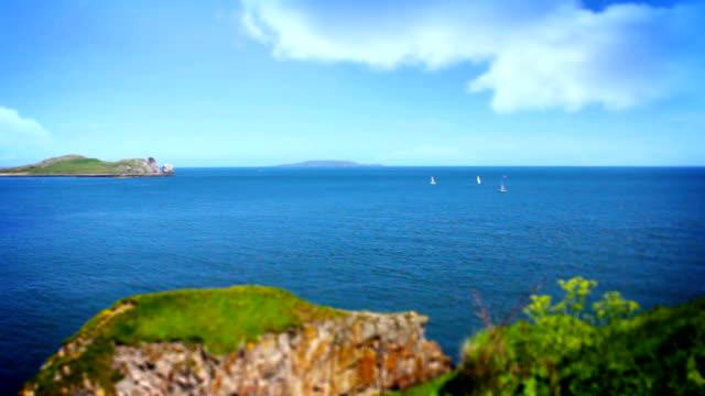 Beautiful Sea, Tile Shift, Howth, Dublin Bay, Ireland video