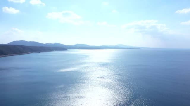 Beautiful seascape and horizon Aerial view, Horizon, Seascape, Nature sea stock videos & royalty-free footage