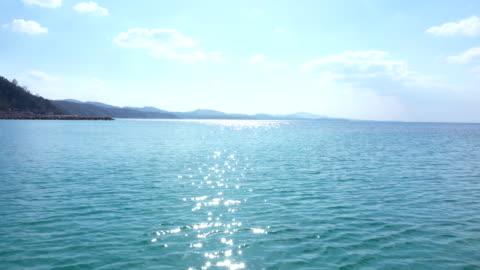 piękny pejzaż morski i horyzont - horyzont wodny filmów i materiałów b-roll