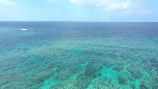 vídeos de stock e filmes b-roll de beautiful seascape and horizon - oceano pacífico