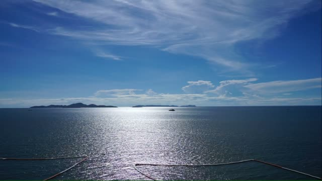 Beautiful seascape in Pattaya, Thailand Beautiful seascape with reflection on the water in Pattaya, Thailand pattaya stock videos & royalty-free footage