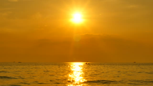 Beautiful Seascape with Sunset Sky Backgrounds video