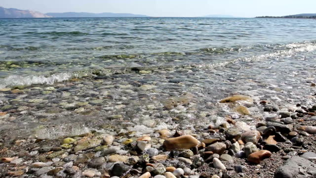 Beautiful shallow sea, bay with crystal clear water video