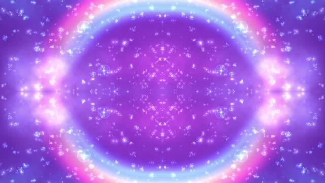 vídeos y material grabado en eventos de stock de un hermoso arco iris brillante de fondo púrpura brillante - feminidad