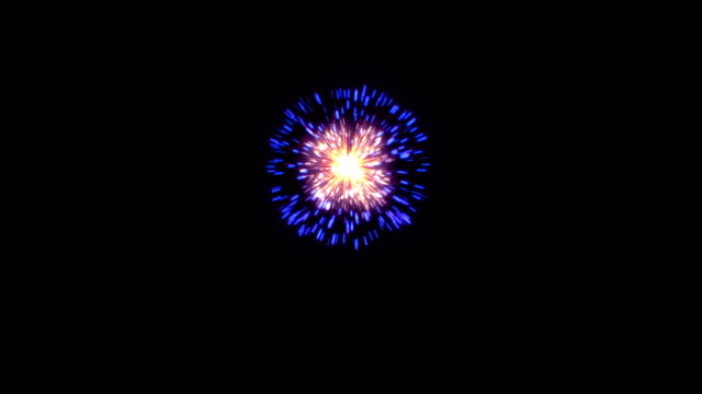 Beautiful single firework video