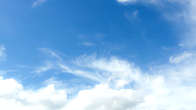 Beautiful sky and white cloud motion video
