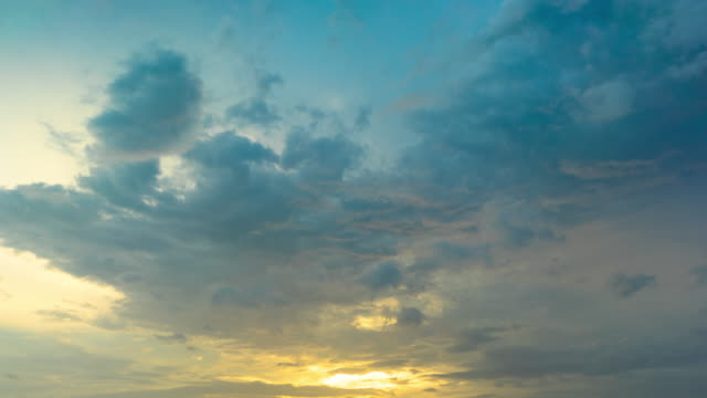 beautiful sky at sunset, time-lapse video