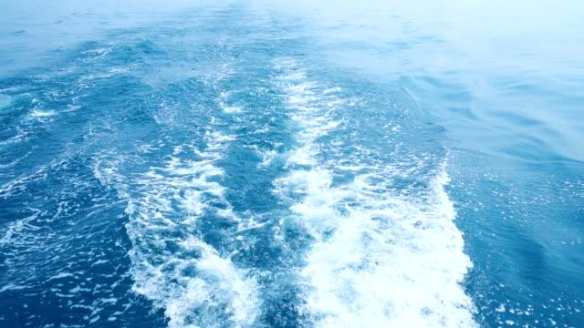 美しい滑らかな海の水の背景。 ビデオ