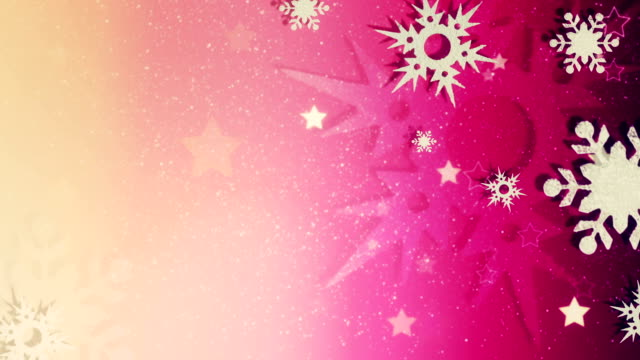 Beautiful snow crystals loopable Christmas background video